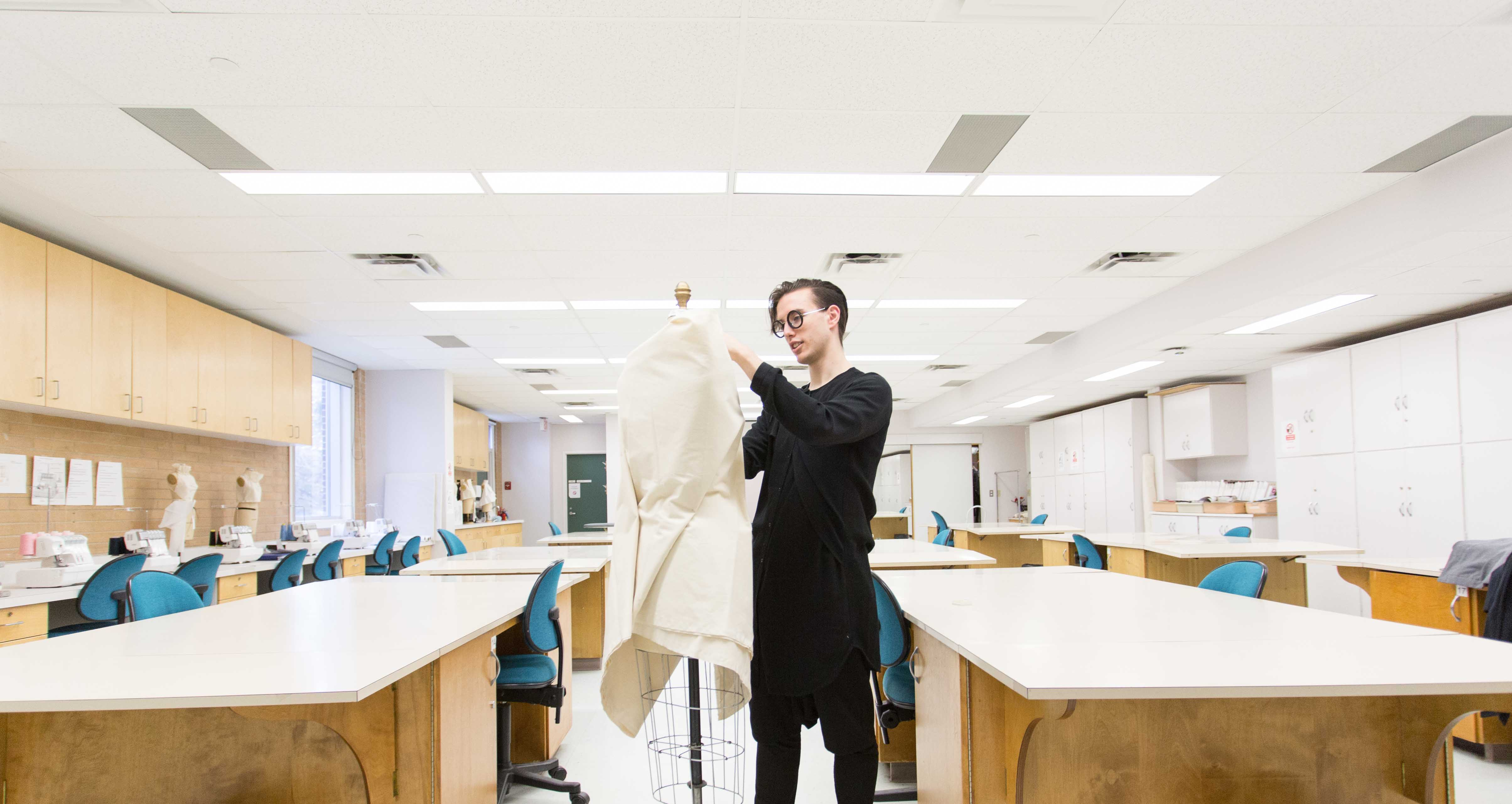 Joel Is A Human Ecology Student Majoring In Clothing And Textiles Through His Coursework Received Telio Fashion Scholarship Winning Piece